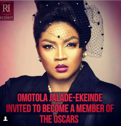 OMOTOLA JALADE-EKEINDE INVITED TO BECOME A MEMBER OF THE OSCARS