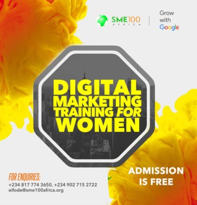 GOOGLE DIGITAL MARKETING TRAINING FOR FEMALE ENTREPRENEURS.