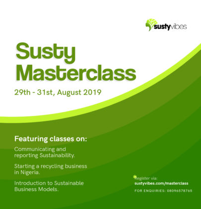 SustyVibes Masterclass Series 2019