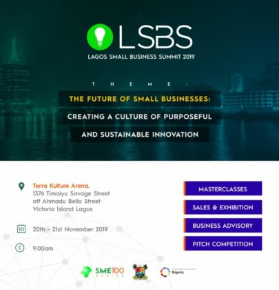 SME100 ANNOUNCES 2 DAYS LAGOS SMALL BUSINESS SUMMIT.