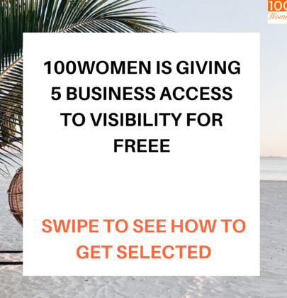 100women is giving 5 business free access to visibility